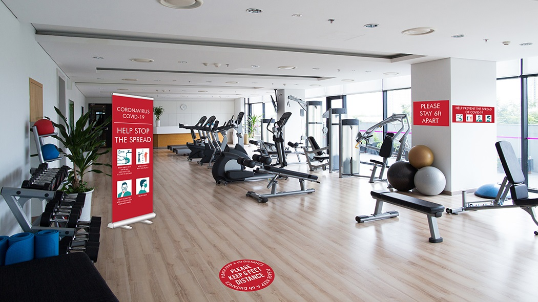 Gym and Fitness COVID-19 Graphics