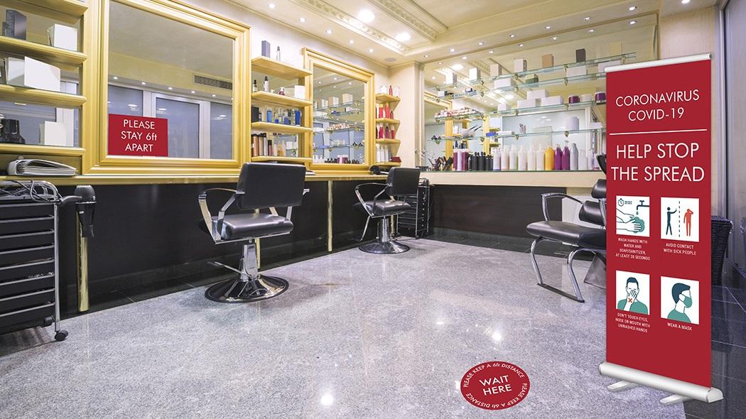 Salon and small business COVID-19 Graphics