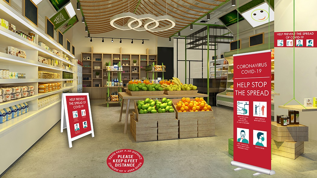 Retail and grocery COVID-19 Graphics
